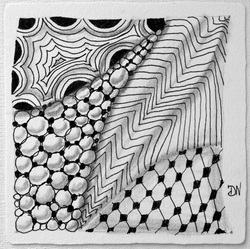 My first ever Zentangle tile